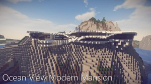 İndir Ocean View Modern Mansion için Minecraft 1.14